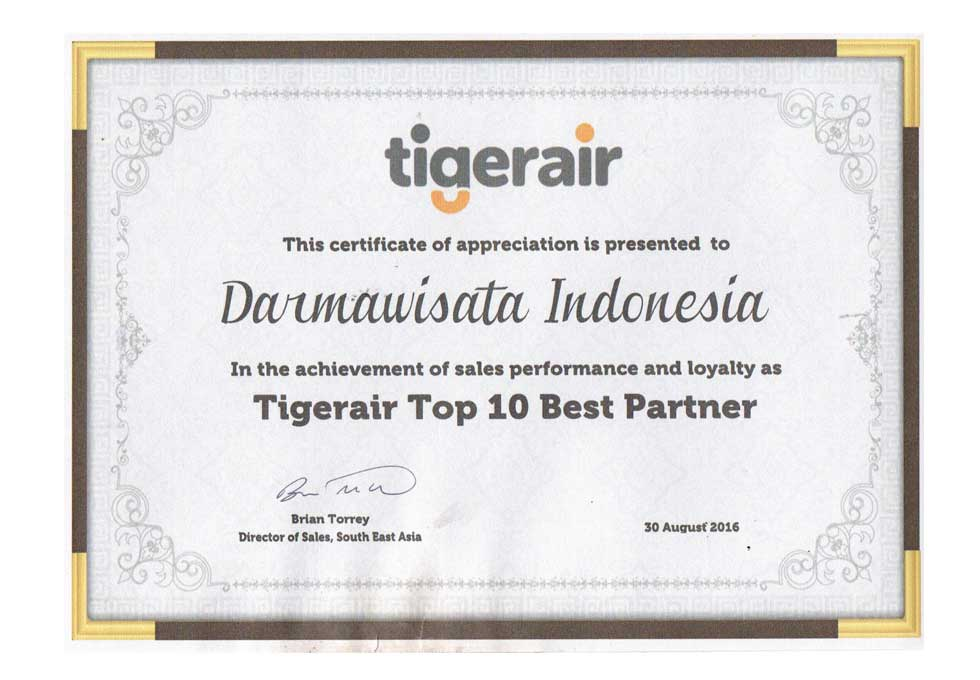 Tiger Air - Top 10 Best Partner 2016