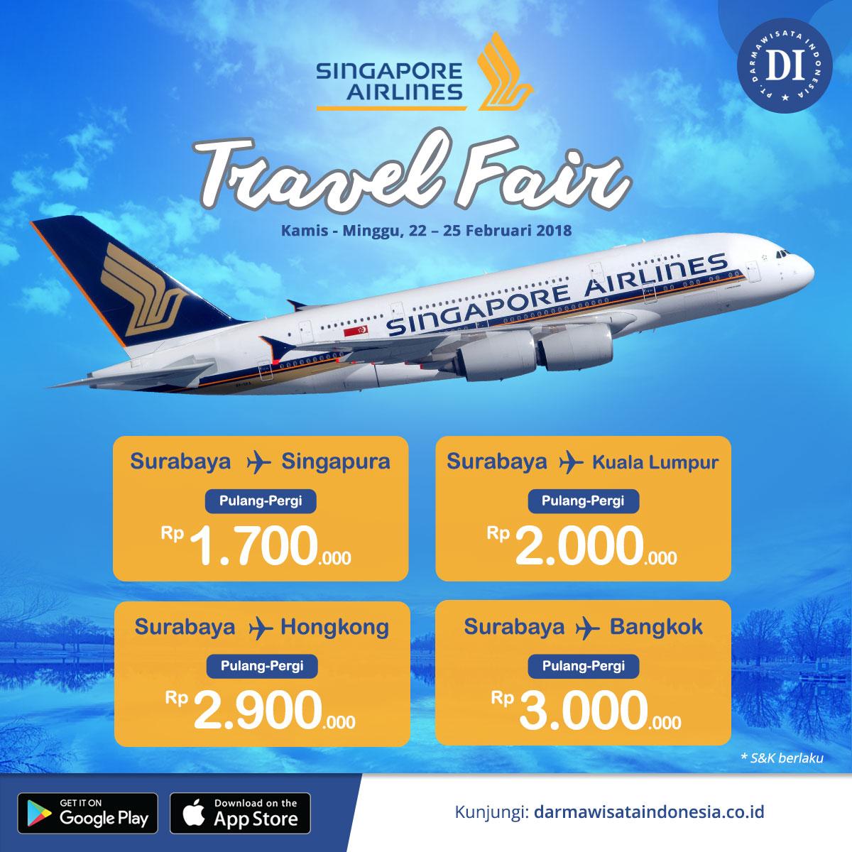 Singapore Airlines Travel Fair 2018